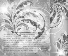 暗色植物花纹背景素材