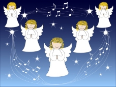 天使背景素材