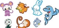 各种卡通动物图片