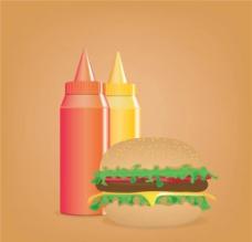 汉堡西餐快餐图片
