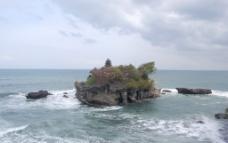 远观小岛风景无限美好图片