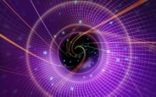 智能科技紫色网格背景