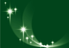 绿色星星光背景