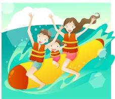 家庭海邊活動香蕉船