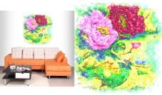 潮流花卉艺术装饰画设计