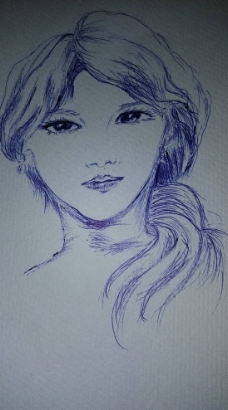圆珠笔画人物图片