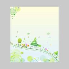 绿色卡通矢量背景