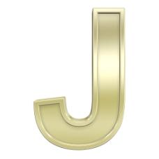 从闪亮的金框字母集的一封信