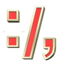 结肠段从红色字母逗号分号