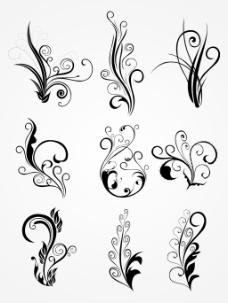 花朵纹身的背景