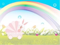 彩虹花园背景