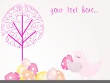 彩色的蛋背景树