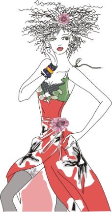 古代美女服装_服装款式图图片