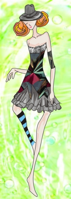 古代美女服装_服装款式图