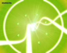 绿色光环光效