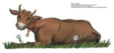 卡通老黄牛