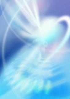 蓝色爆炸光线背景图片