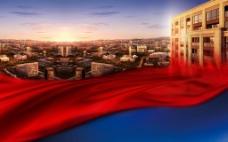 房地产效果图城市红丝图片