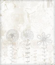 画花卉背景矢量插画