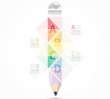 铅笔图表矢量模板