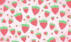 孩子气的草莓背景矢量素材