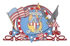 独立日快乐七月第四矢量