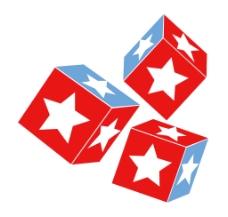 七月第四设计骰子的星星