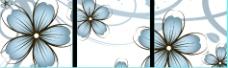 无框画 三联画花卉花朵