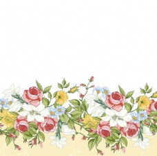 矢量复古花朵边框背景
