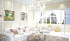 客廳設計3D模型文件+效果圖