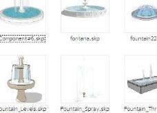 景观水景喷泉SKETCHUP模型素材