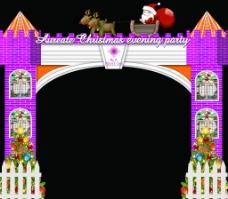 圣诞门框图片
