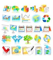 网络信息数据图表icon素材