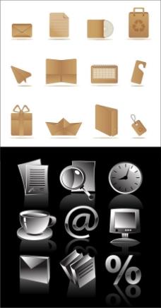 木纹质感立体网络icon素材