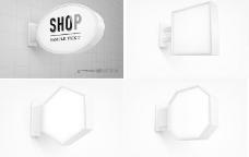 创意广告灯箱设计矢量素材