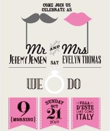 创意婚礼海报设计矢量素材