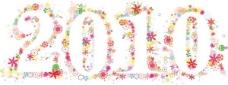 2010由可爱的五颜六色的花朵矢量素材