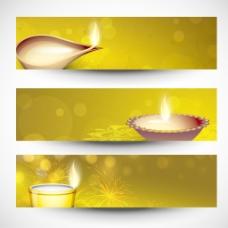 网站标题或横幅印度教节日排灯节为社区或排灯节