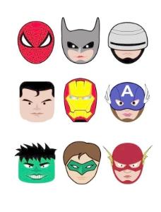 超级英雄的矢量插图