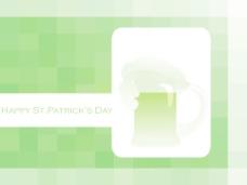 摘要淺綠色的背景與3月17