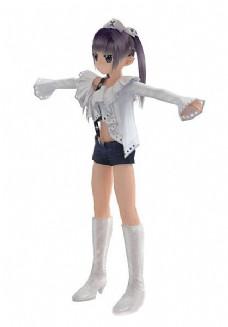 3DMAX小女孩人物模型