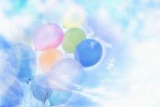 炫彩气球背景图片