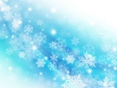 蓝色雪花 背景图片