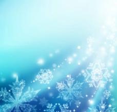 蓝色雪花背景图片