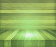 绿色木舞台背景
