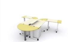 办公家具之办公单元0203D模型