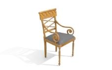 欧式家具椅子0073D模型
