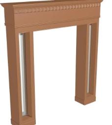 室内装饰建筑部件之门套293D模型