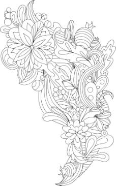 木纹 树叶 笔 白纸 写字板 叶子 花边 花纹 矢量分层素材源文件 韩国