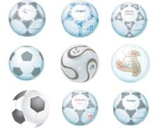 9 AI格式的超现实的和专业的足球矢量素材